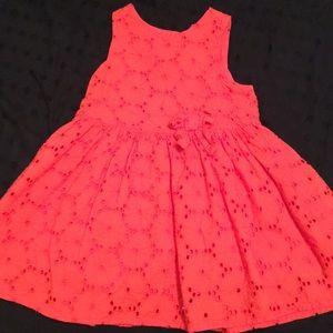 Orange Oshkosh dress